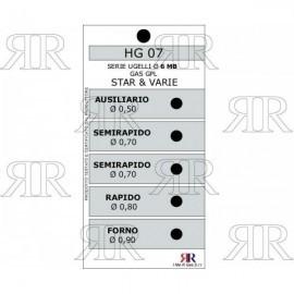 CONFEZIONE UGELLI 5 PZ 6MB GAS GPL - STAR E VARIE