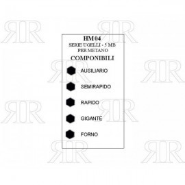 CONFEZIONE UGELLI 5 PZ - 5MB METANO ITALGAS