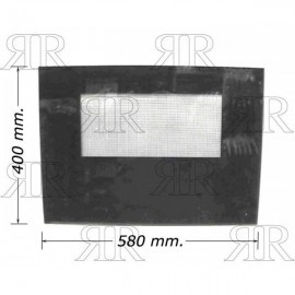 VETRO FORNO 580X400 SPESSORE 4MM. TIPO SMEG-SOVRANA-TECNOGAS