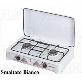 FORNELLO A 2 FUOCHI ITIMAT SMALTATO BIANCO
