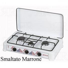 FORNELLO 3 FUOCHI ITIMAT SMALTATO MARRONE