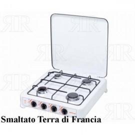 FORNELLO 4 FUOCHI SMALTATO TERRA DI FRANCIA - ITIMAT